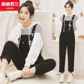 吊帶褲 牛仔吊帶褲女秋季2020新款初中學生韓版寬鬆連身長褲兩件套裝 多款