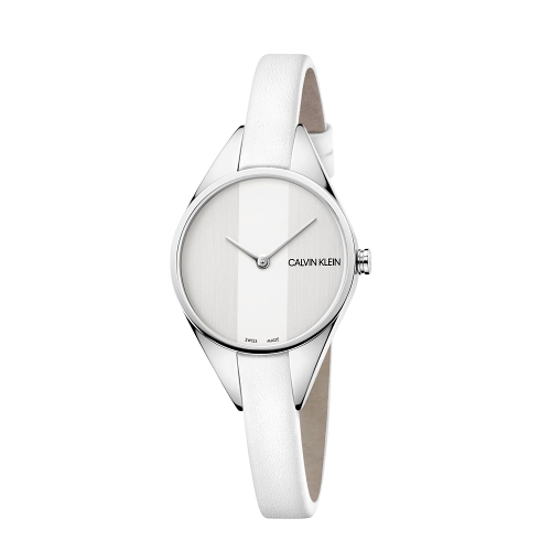 Calvin Klein CK Rebel極簡設計質感皮帶腕錶(K8P231L6)29mm