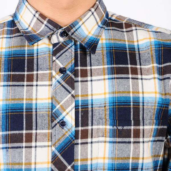 John Duke 格紋厚襯衫 藍黃