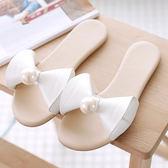 拖鞋 夏季室外涼拖鞋平跟涼感一字拖LJ9977『miss洛羽』