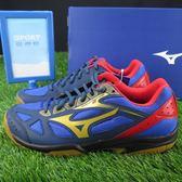 【iSport愛運動】Mizuno 美津濃 CYCLONE SPEED 2 羽球鞋 V1GA198050 男款 藍
