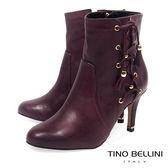 Tino Bellini 巴西進口風姿綽約高跟短靴_ 酒紅  B69013 歐洲進口款