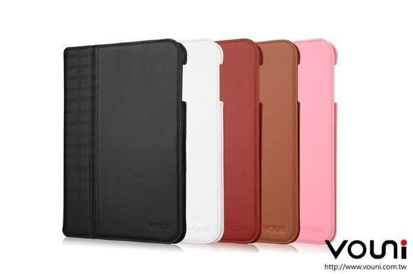 【愛瘋潮】Vouni Apple iPad mini 專用 格紋真皮皮套 保護套  智慧休眠 喚醒功能