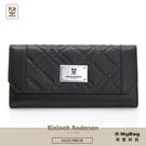 Kinloch Anderson 金安德森 皮夾 英國女爵 菱格壓紋長夾 女用長夾 黑色 KA156108 得意時袋