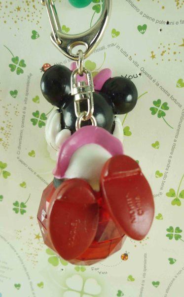 【震撼精品百貨】Micky Mouse_米奇/米妮 ~鑰匙圈-米妮抱球