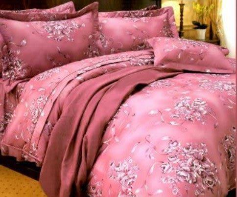雙人加大6*6.2尺-台灣製造精品 POLO玫瑰情懷 精梳棉五件式床罩組