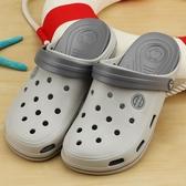 洞洞鞋男涼鞋迪特海邊沙灘鞋女厚底果凍拖鞋男夏季室外護士鞋【快速出貨】
