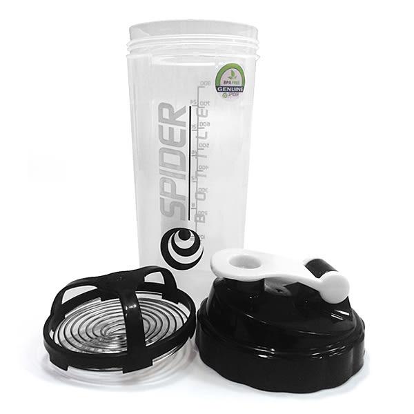 德國專利 SPIDER BOTTLE螺旋振盪彈簧 輕便隨行杯 1000ml (黑)公司貨