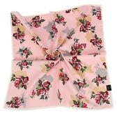 DAKS 花卉印紋純綿帕領巾(粉紅色)989108-136