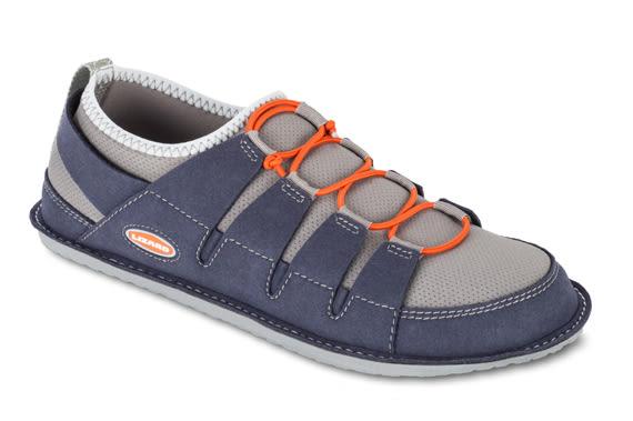 Lizard 義大利 Leaf 輕葉輕抗菌休閒鞋-可折收 男款 LI12537 藍 輕量 180g 拖鞋 旅行【易遨遊】