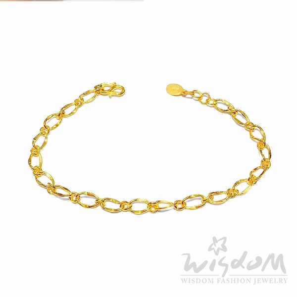 威世登 黃金流線型手鍊 情人節 金重約1.74~1.76錢 GC00029-ACXX-FIX