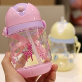 兒童水壺 吸管杯子帶背 繩便攜帶杯子 降價兩天