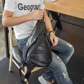 胸包-皮革純色大容量戶外休閒男肩背包73rv46[巴黎精品]
