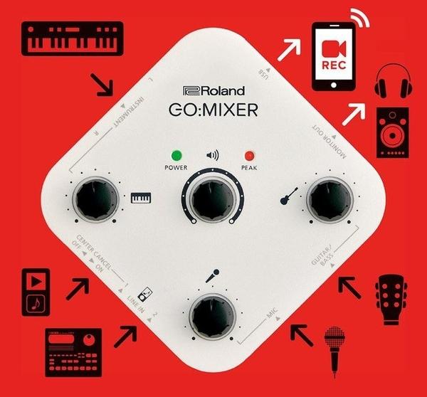 ☆ 唐尼樂器︵☆ Roland Go Mixer 智慧型手機專用 音訊 混音器 混音座 直播神器 GO:MIXER