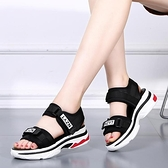 鬆糕涼鞋 夏季新款厚底涼鞋女鬆糕坡跟學生運動涼鞋平底韓版魔術貼女鞋 交換禮物