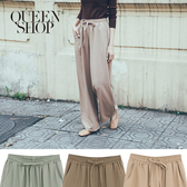 Queen Shop【04110272】抽繩設計西裝寬褲 三色售*現+預*
