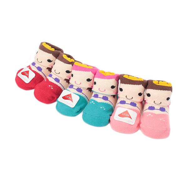 貝柔 寶寶美人魚寬口襪 混款 3入組 鞋全家福