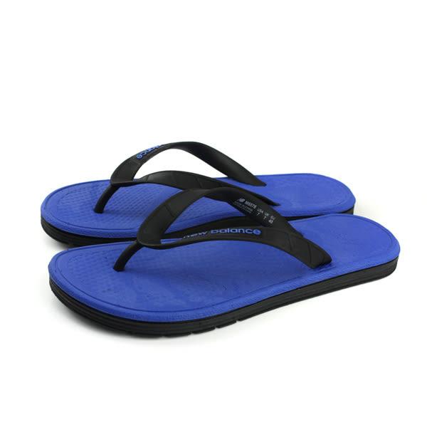 NEW BALANCE 夾腳拖鞋 人字拖 防水 雨天 深藍色 男鞋 M6076BRB-D no410