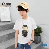 男童短袖童裝男童卡通短袖T恤2018夏裝新品兒童體恤衫中大童正韓 (一件免運)
