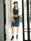 秋冬單一價[H2O]小高領立體點點布八分袖雪紡上衣 - 藍/白/灰色 #8635008