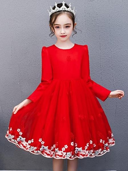 女童公主裙新款洋氣紗裙中大童蓬蓬洋裝 淇朵市集