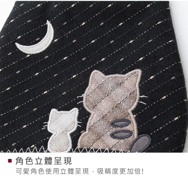 Kiro貓‧背影貓 先染布 彈片口金 拼布 小斜背/手機包【270077】