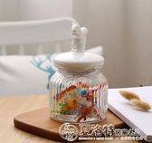 歐式花茶密封罐復古玻璃創意密封罐動物造型陶瓷蓋零食糖罐 igo  夏洛特居家
