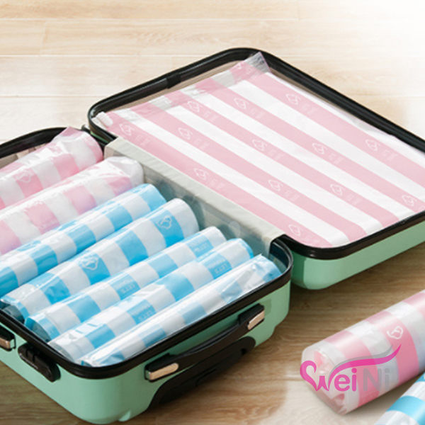 wei-ni 手捲式密封袋(小) 壓縮袋 真空密封袋 收納袋 旅行收納袋 整理包 防潮密封袋 萬用收納袋