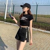 短褲 牛仔短褲女夏韓版寬鬆新款闊腿時尚網紅拉錬調節直筒高腰顯瘦 街頭