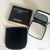 韓式隨身便攜雙面化妝鏡一面放大補妝翻蓋式折疊鏡子女小號迷你鏡 潮流衣館
