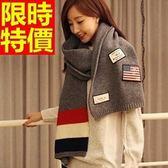羊毛披肩-韓風針織毛線國旗加厚女圍巾63ag16【巴黎精品】