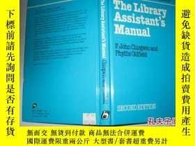二手書博民逛書店英文原版罕見THE LIBRARY ASSISTANT IS M