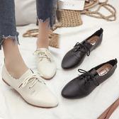 韓版小白鞋女百搭夏女鞋繫帶小皮鞋牛津鞋休閒鞋透氣平跟平底單鞋 奇思妙想屋