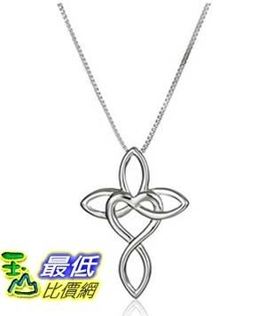 [美國直購] Rhodium Plated Sterling Silver Infinity Family Pendant Necklace, 18 項鍊