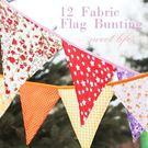 【發現。好貨】韓國多色手工純棉布三角吊旗生日派對裝飾吊旗房間寶寶周歲彩旗婚禮裝飾野餐
