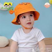 兒童童帽 兒童帽子太陽帽春夏卡通小螃蟹寶寶漁夫帽純棉男童遮陽帽防曬帽子 寶貝計畫