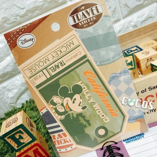 日本正版 迪士尼貼紙 米老鼠 米奇 裝飾貼紙 行李箱貼紙 耐水耐光材質 B款 COCOS TK091