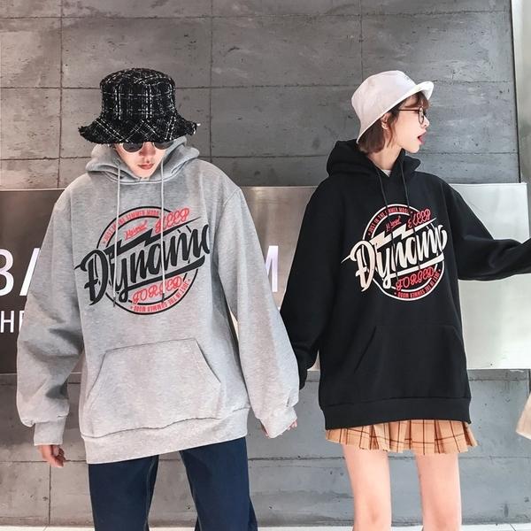 情侶裝 情侶連帽帽T男女歐美街頭嘻哈外套秋冬寬鬆加絨學生上衣班服 店慶降價