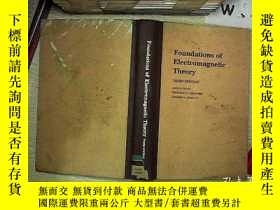 二手書博民逛書店foundations罕見of electromagnetic theory third edition 電磁理論
