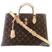 【Louis Vuitton 路易威登】M43551 Flower Tote 經典花紋手提/斜背兩用仕女包