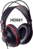 [唐尼樂器] Superlux HD681 HD681B HD681F 半開放式 耳罩式 舞台 錄音室 監聽耳機