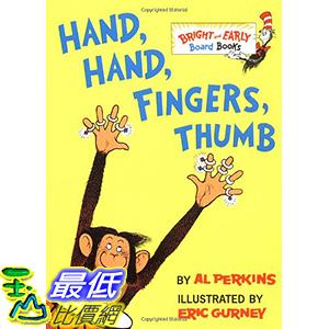 [106美國直購] 2017美國暢銷兒童書 Hand, Hand, Fingers, Thumb (Bright & Early Board Books) Board book