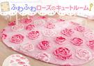 日本製玫瑰地墊地毯橢圓形190x130cm 020367通販屋