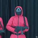 面具 魷魚遊戲面具同款面罩萬聖節cosplay道具扮演紅衣人管理員李政宰 生活主義