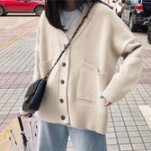 開衫外套 女針織毛衣 新款秋冬季慵懶風洋氣外套