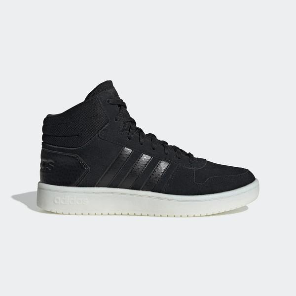 Adidas NEO Hoops 2.0 Mid [EE7893] 女鞋 運動 休閒 籃球 中筒 基本 穿搭 愛迪達 黑