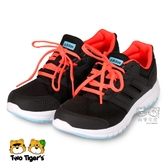 ADIDAS 愛迪達 Galaxy 4K 黑x螢光橘 鞋帶款 運動鞋 大童鞋 NO.R3526