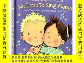 二手書博民逛書店英文原版罕見We Love to Sing Along 4合1歌