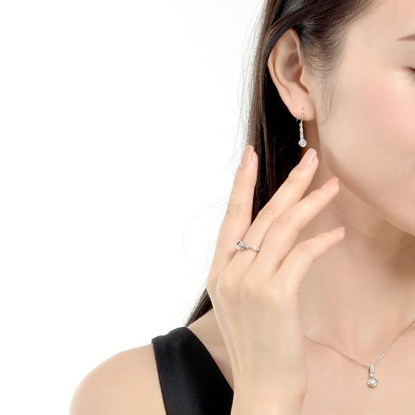 點睛品 INFINI LOVE DIAMOND-Iconic系列 0.18克拉鑽石耳環