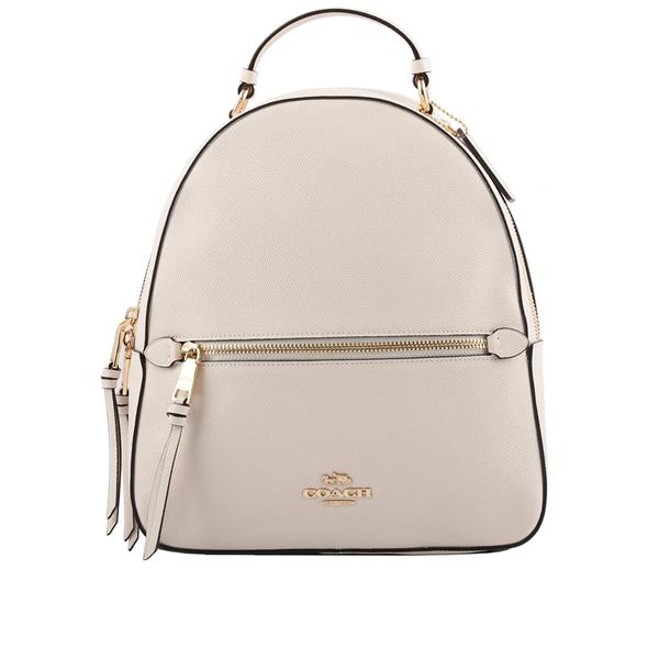 【COACH】粒面皮革口袋後背包(白色) 76624 IMCHK